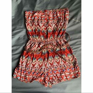 Tribal Romper with belt